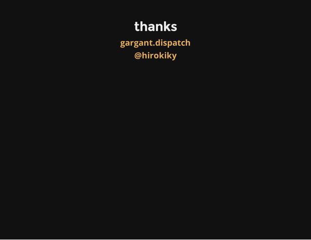 gargant.dispatch, a flexible dispatcher for WSGI
