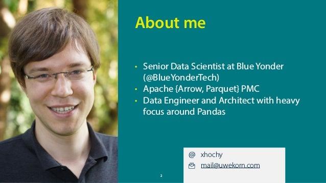 Fulfilling Apache Arrow's Promises: Pandas on JVM memory without a copy Slide 2