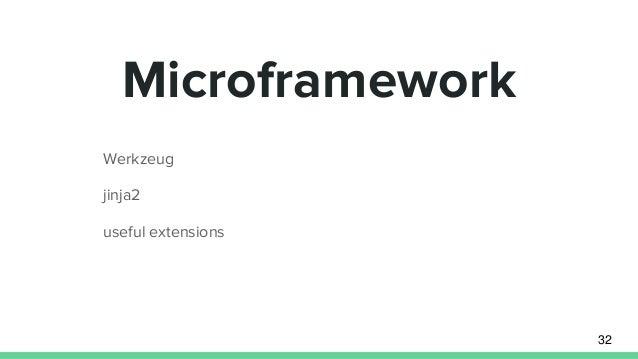 Werkzeug jinja2 useful extensions Microframework