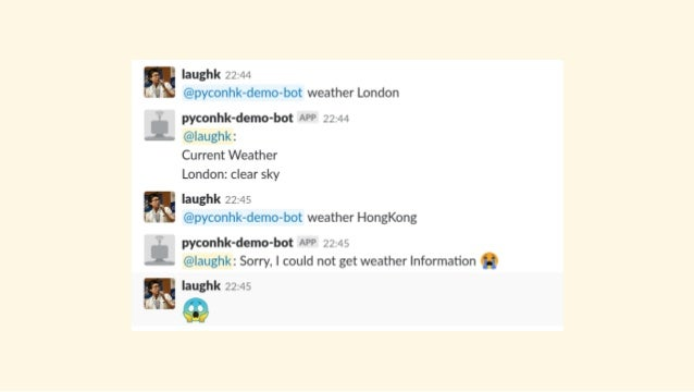 Collaboration hack with slackbot - PyCon HK 2018 - 2018 11 24