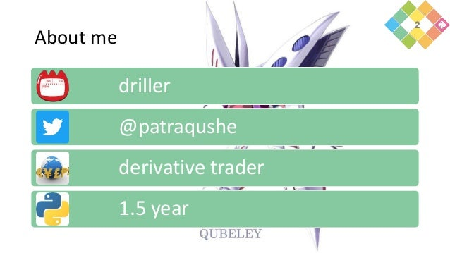 About me driller @patraqushe derivative trader 1.5 year 2