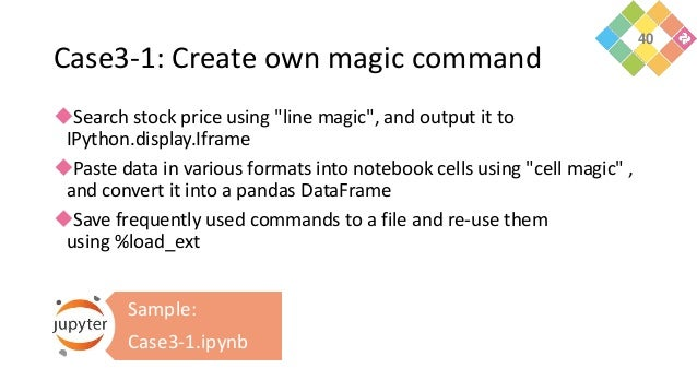 """Case3-1: Create own magic command Search stock price using """"line magic"""", and output it to IPython.display.Iframe Paste d..."""