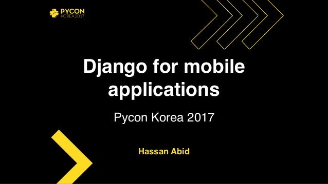 Django for mobile applications