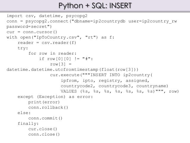 Relational Database Access with Python