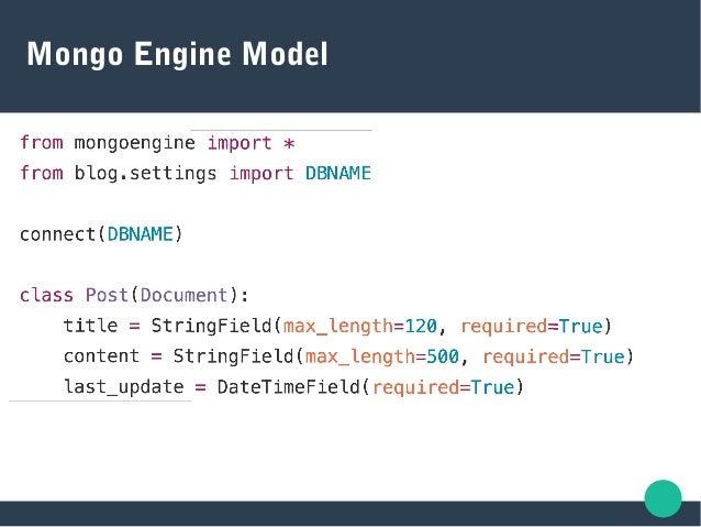 Mongo Engine Model
