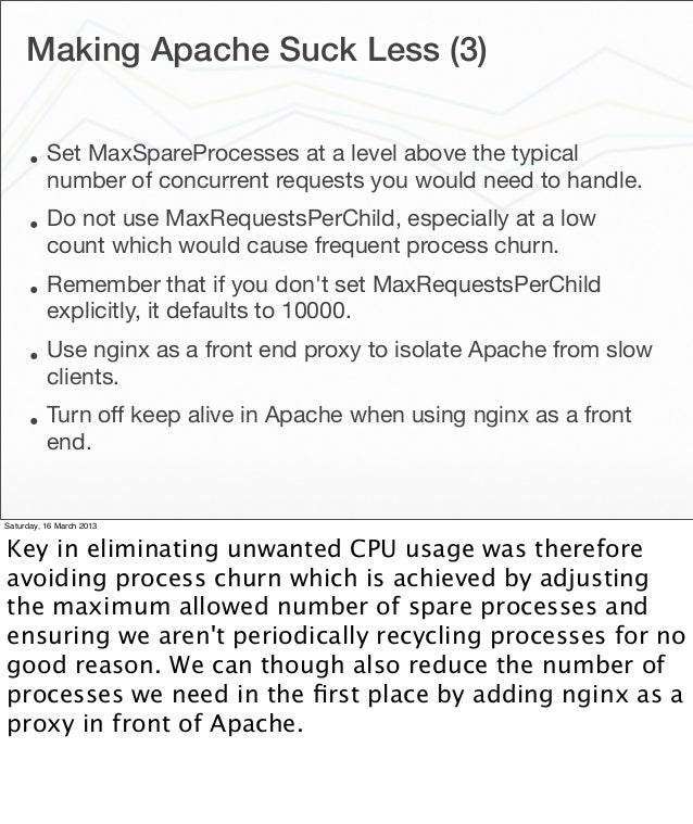 PyCon US 2013 Making Apache suck less for hosting Python web