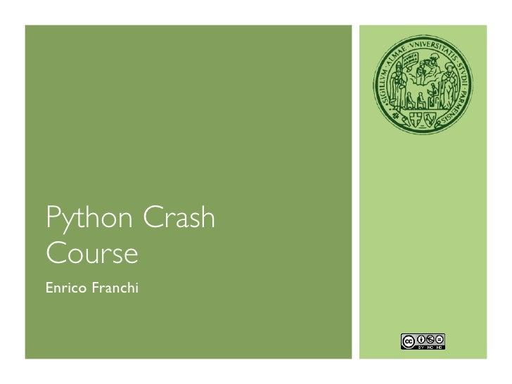 Python CrashCourseEnrico Franchi