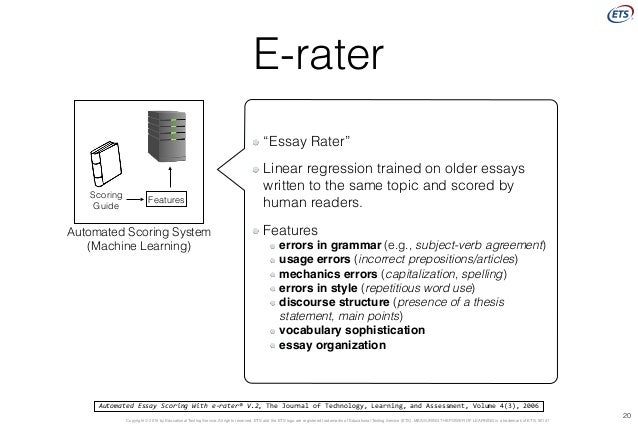 Automated essay scoring with e-rater