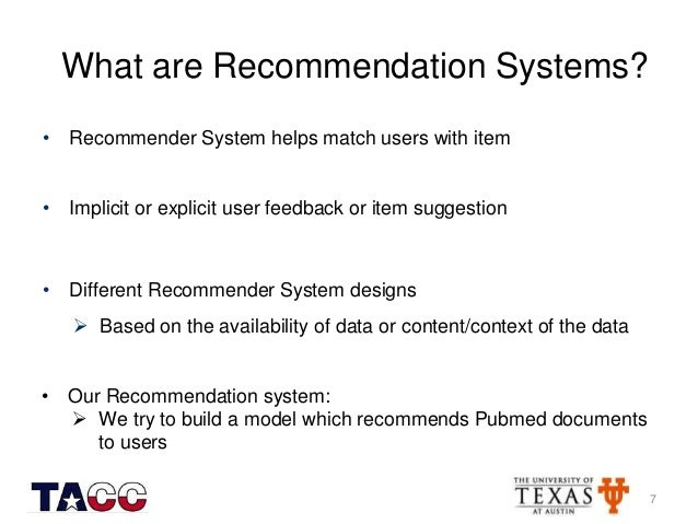 recommendation example