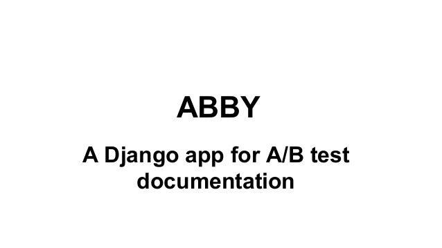 ABBY A Django app for A/B test documentation