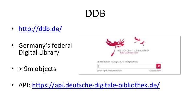Trove • http://trove.nla.gov.au/ • Digital Library of Australia • > 540m objects • API: http://help.nla.gov.au/trove/build...