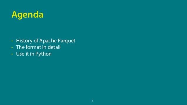 PyData London 2017 – Efficient and portable DataFrame storage with Apache Parquet Slide 3