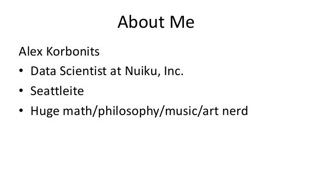 Deep Learning with Python (PyData Seattle 2015) Slide 2