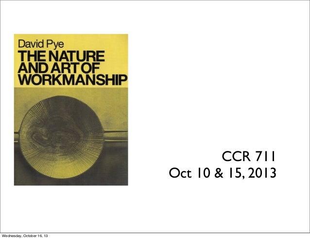 CCR 711 Oct 10 & 15, 2013  Wednesday, October 16, 13