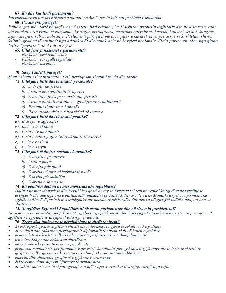 Pyetje - pergjegje nga e drejta kushtetuese
