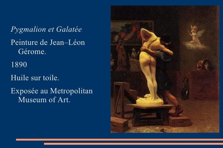 <ul><li>Pygmalion et Galatée