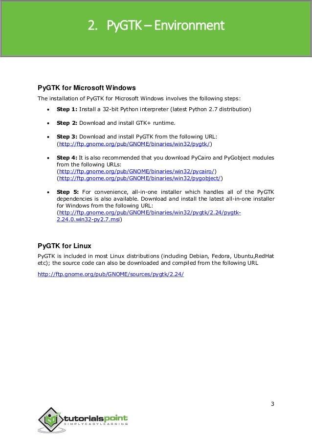 Gtk Windows Tutorial