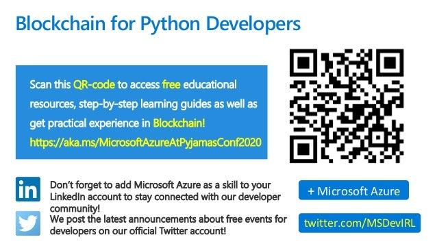 Blockchain for Python Developers - Pyjamas Conf 2020