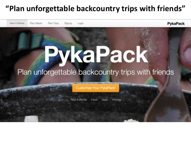 """""""Plan unforgettable backcountry trips with friends"""""""