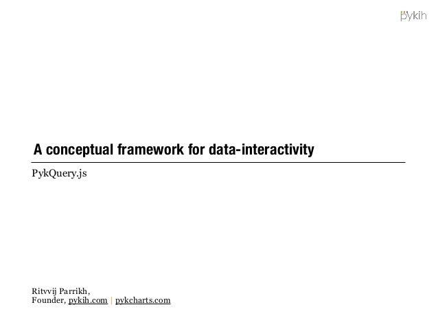 A conceptual framework for data-interactivity PykQuery.js Ritvvij Parrikh, Founder, pykih.com   pykcharts.com