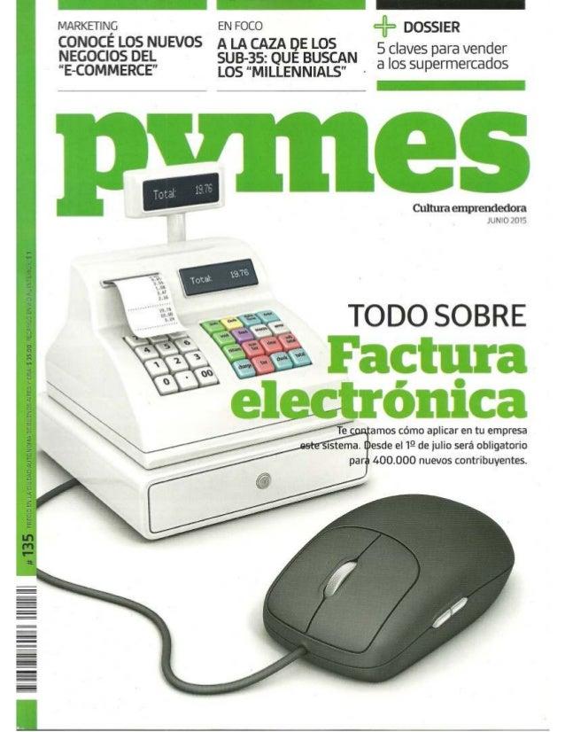 NOTA PUBLICADA SOBRE FACTURA ELECTRÓNICA - REVISTA PYMES - 06-2015