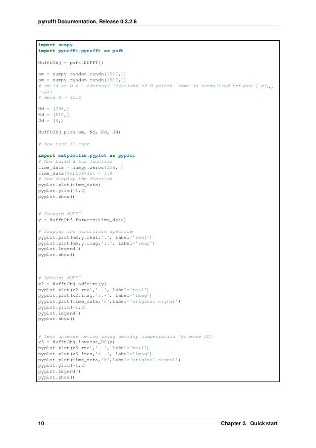 A minimal introduction to Python non-uniform fast Fourier