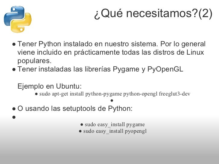 Introducci n a las librer as pygame y pyopengl - Librerias python ...
