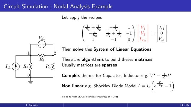 PyParis2017 / Circuit simulation using Python, by Fabrice Salvaire