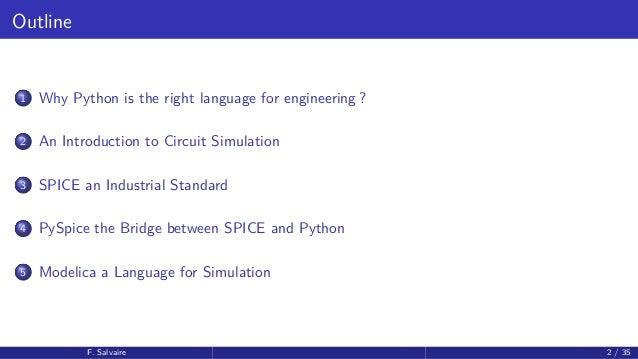 PyParis2017 / Circuit simulation using Python, by Fabrice Salvaire Slide 2