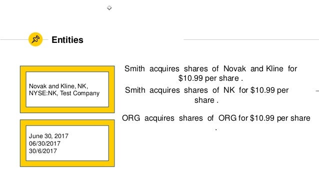 Entities Novak and Kline, NK, NYSE:NK, Test Company June 30, 2017 06/30/2017 30/6/2017 Smith acquires shares of Novak and ...