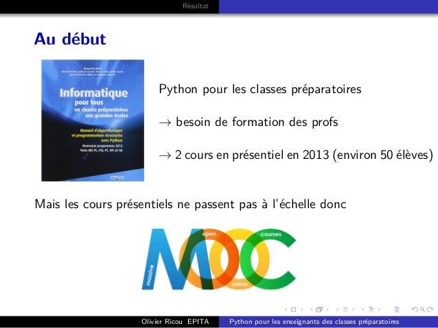 . . . . . . . . . . . . . . . . . . . . . . . . . . . . . . . . . . . . . . . . Résultat Au début Python pour les classes ...