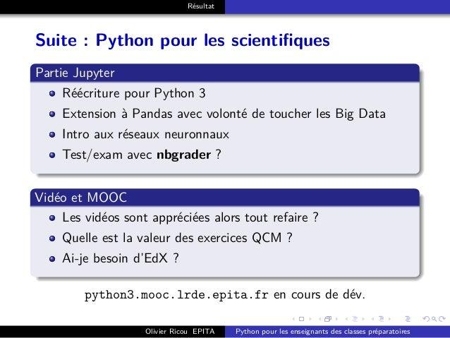 . . . . . . . . . . . . . . . . . . . . . . . . . . . . . . . . . . . . . . . . Résultat Suite : Python pour les scientifi...