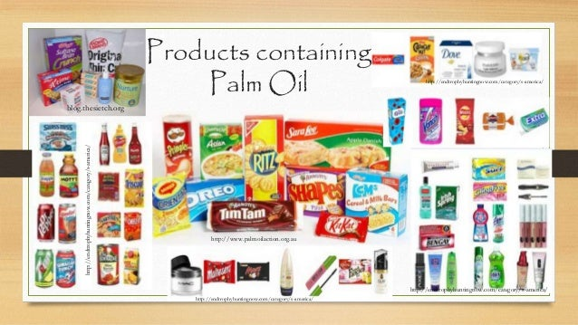 Foods Without Palm Oil Uk