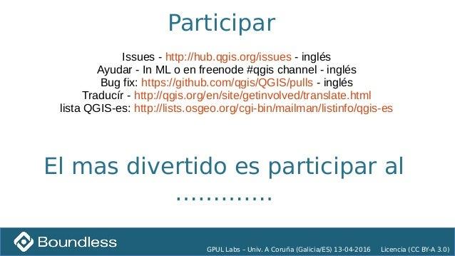 PyQgis gpul-lab Univerisity of A Coruña 20160413