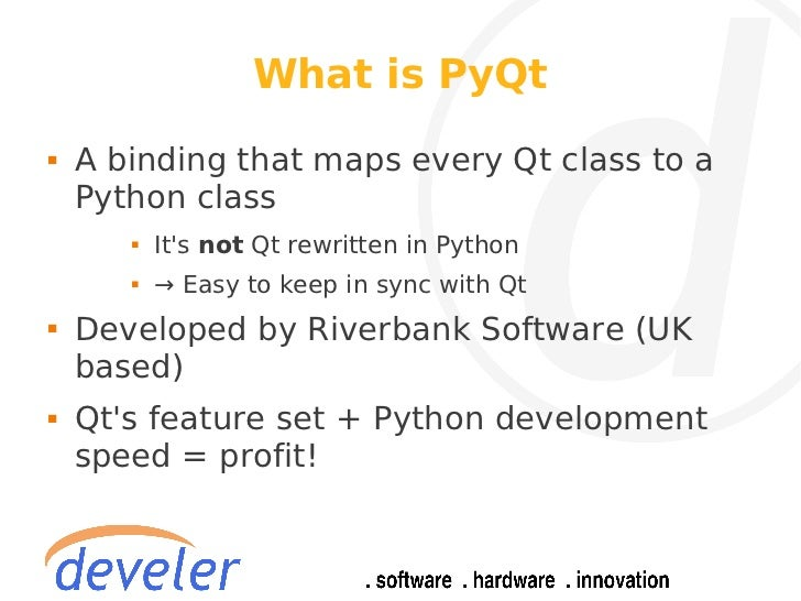 PyQt: rapid application development