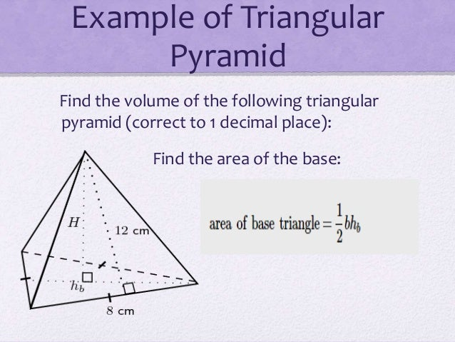 Pyramid 3 example of triangular pyramid find the volume ccuart Choice Image