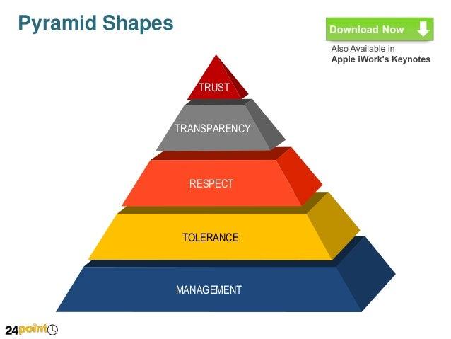 editable ppt slides pyramid shapes