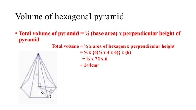 how to get the area of a pyramid