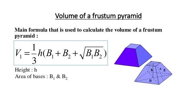 Myndaniðurstaða fyrir volume of truncated pyramid