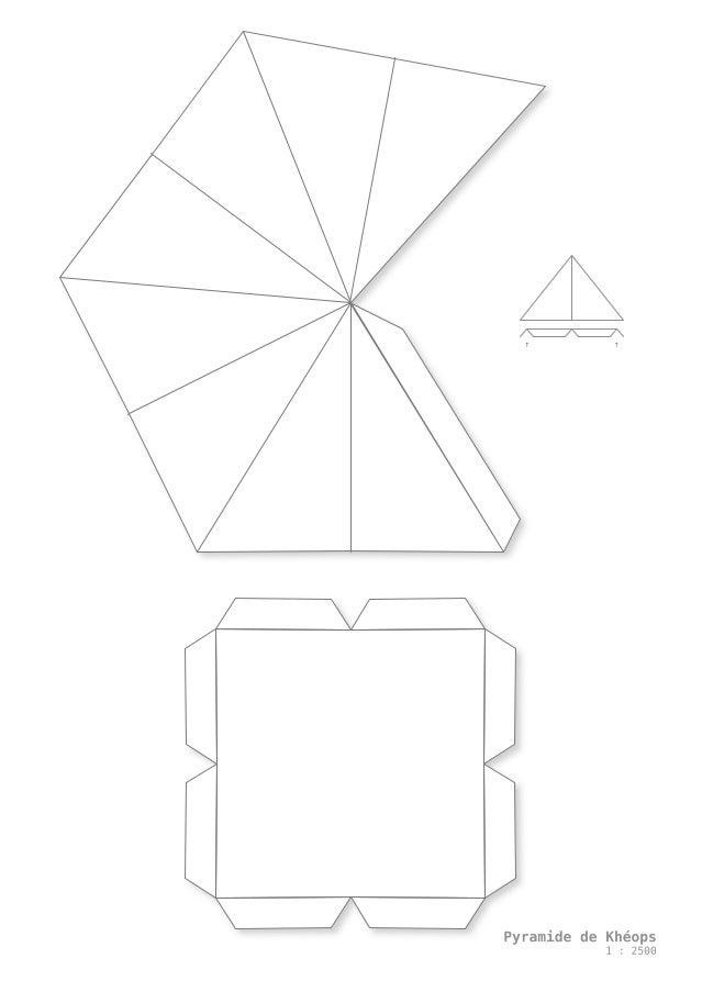 Pyramide de khéops en papier