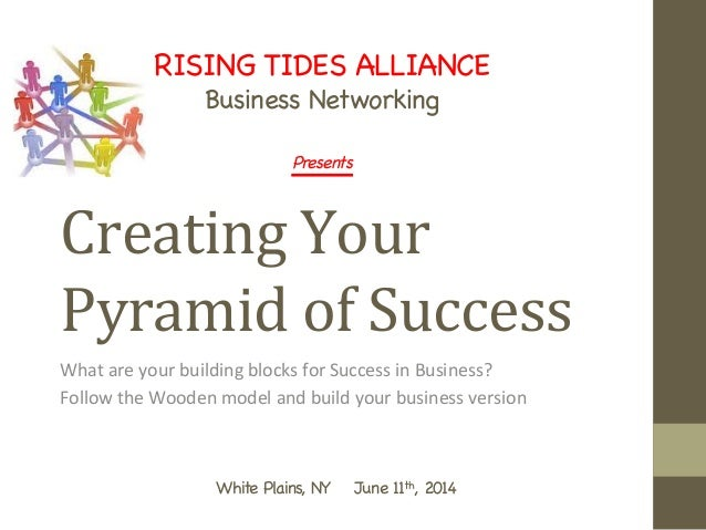 Creating	   Your	    Pyramid	   of	   Success 	   	    What	   are	   your	   building	   blocks	   for	   Success	   in	 ...