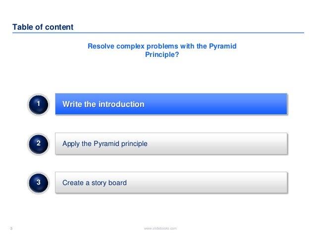 Pyramid principle Slide 3