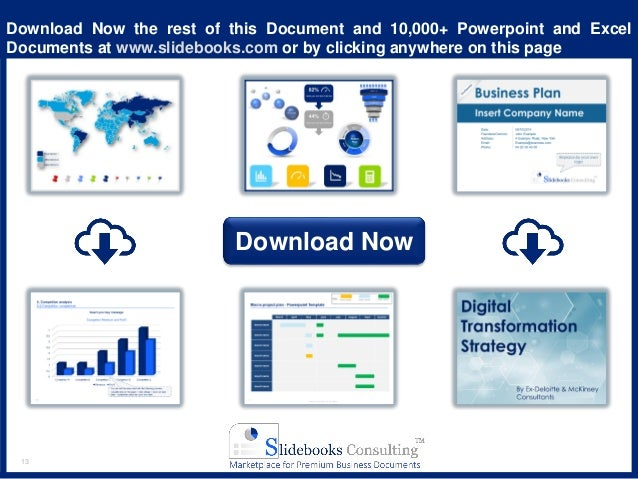 13 Download Now the rest of this Document and 10,000+ Powerpoint and Excel Documents at www.slidebooks.com or by clicking ...