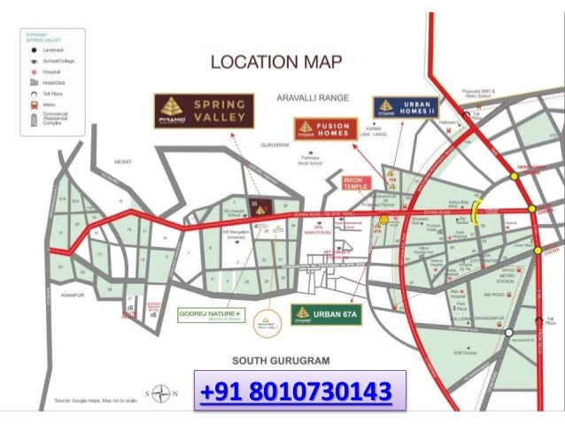Pyramid Spring Valley Plots Location Map #Pyramid #SpringValley #Plots #Sector35 #Locationmap #sohna #gurgaon #affordablehousing ""