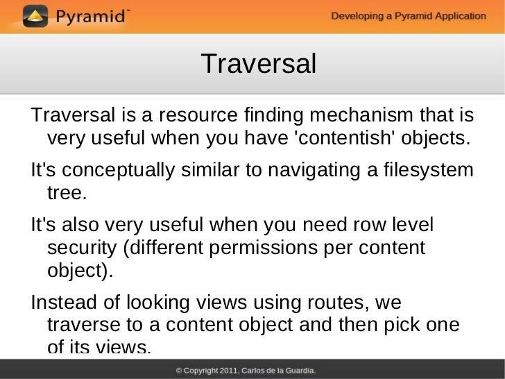Pyramid tutorial