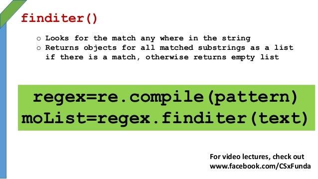 Python Regular Expressions
