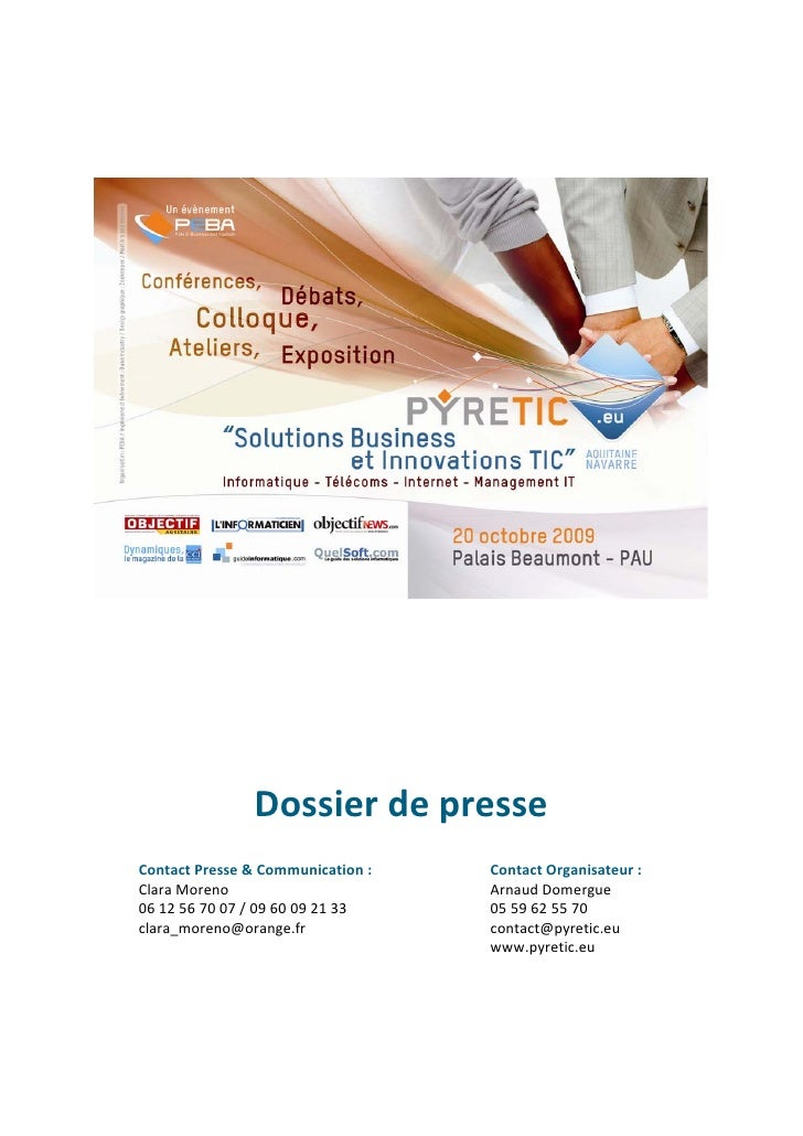 Dossier de presse Contact Presse & Communication :   Contact Organisateur : Clara Moreno                       Arnaud Dome...