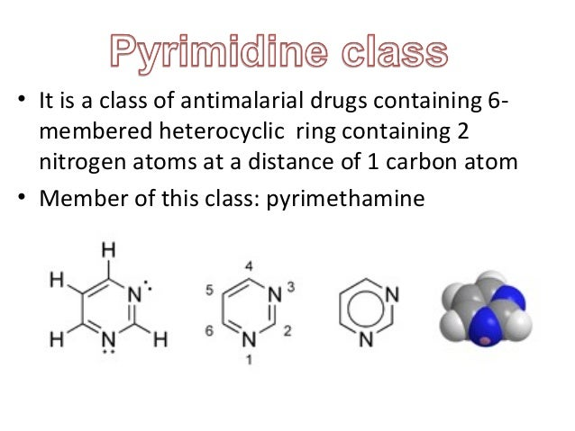 antimalarial drugs pyrimidine class 2015