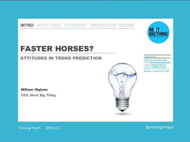 INTRO CHALLENGES INTRO ATTITUDES STRATEGY PREDICTION OUTRO BRANDS SECTORS CLOSE  FASTER HORSES? ATTITUDES IN TREND PREDICT...