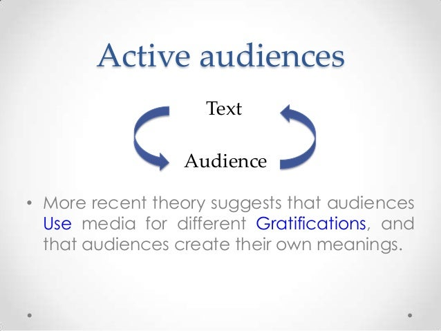 Audience Theories - psychographics and ideology